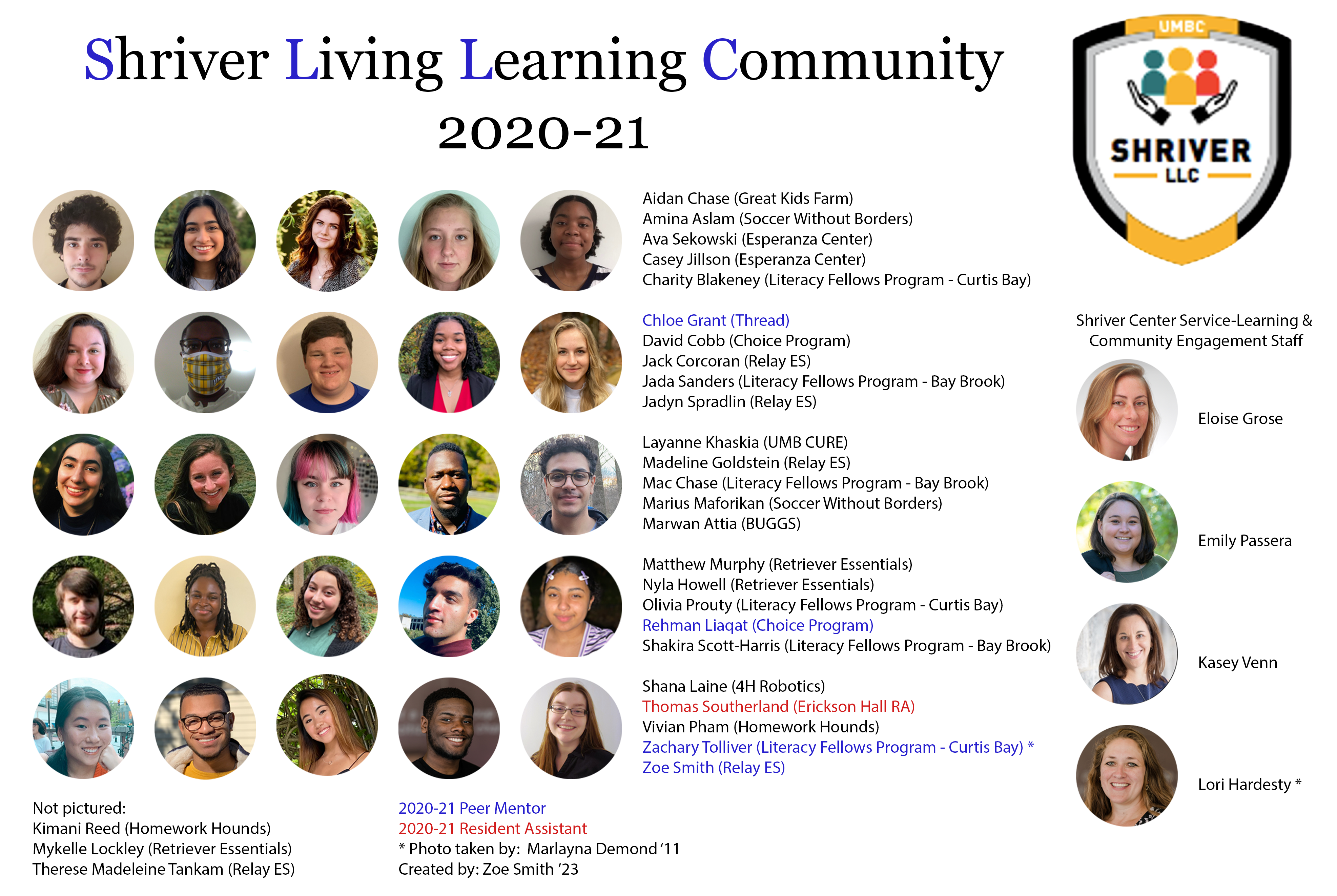 Meet the 21st cohort of the Shriver Living Learning Community!